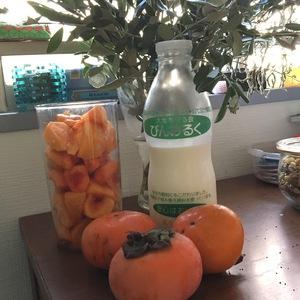 柿で風邪予防!!