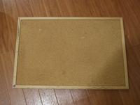 コルクボードを再利用して黒板を作りました!