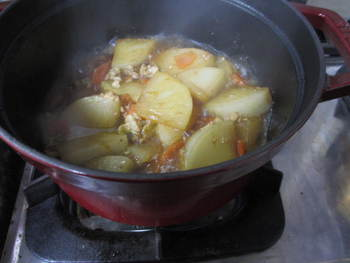 ストウブ鍋と大根