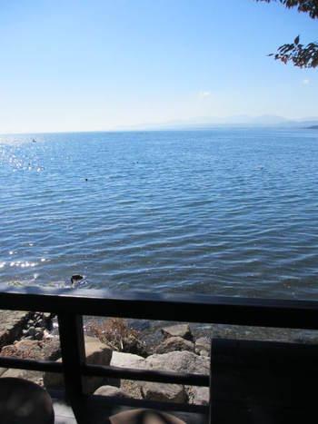 奥琵琶湖のアンティーク・カフェ