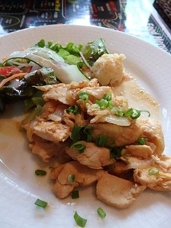 丹波地鶏の生姜焼き&ボリューム満点フライ定食⭐️ランパス神戸第4弾!