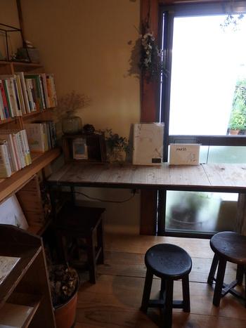 ほっとできる。。。食事と図書の雨風食堂