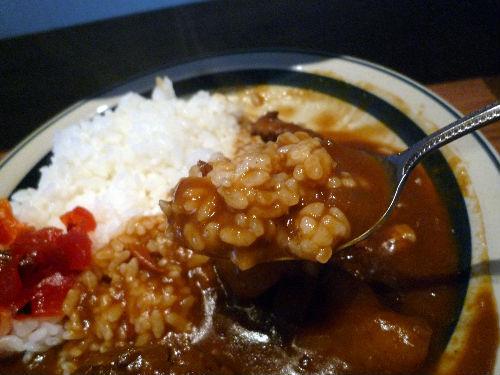 美味しいね!ぼんのおふくろさんの手作りカレーライス(^^)