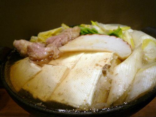 アツアツ湯豆腐で一杯@ひとり鍋