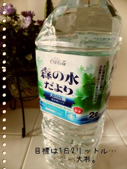 水を飲もう。