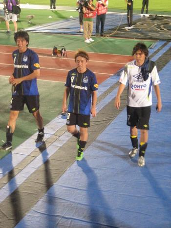 橋本選手と高木選手と宮本選手
