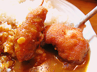 特製 牛すじ肉様煮込み串カツカレー by 串カツのボンクラ 2011/10/26 13:03:03