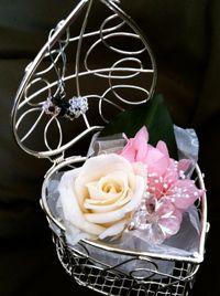ビーズアクセ*お花のコラボレーション♪