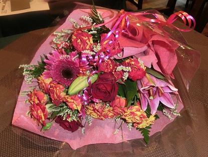 サプライズ花束