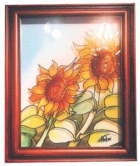 光と影・三原色を楽しむ 中井アツコのガラスアート展