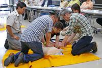 AED使用法講習会を行いました。(7/9)