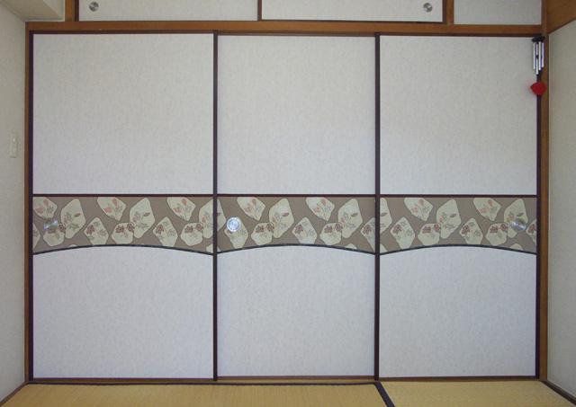 ヨシ紙ふすま×帯地2