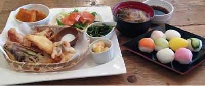 手まり寿司と天婦羅