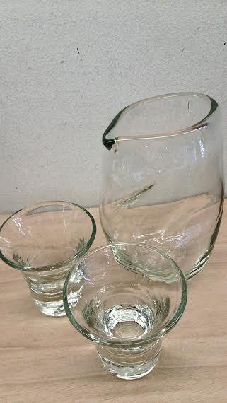 涼しげ。。。ガラスの酒器