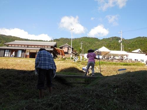 収穫の秋。稲刈り終了!