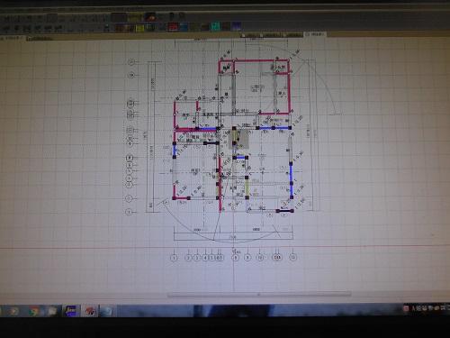 木造耐震診断 改修設計 大詰め。