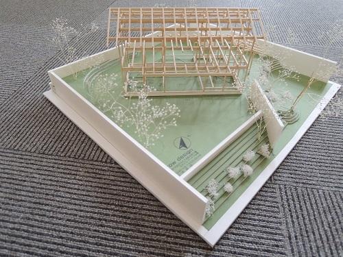 彩都に住宅模型を展示してます。