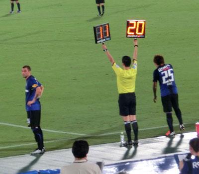ナビスコカップ準々決勝の第1戦