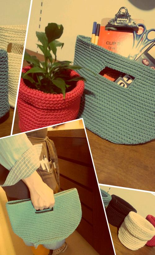 ☆手編みバスケット★
