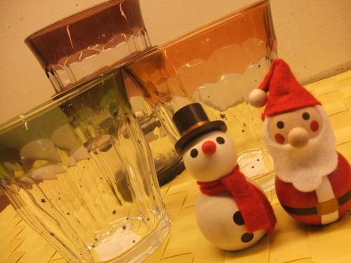 グラスもクリスマスに♪