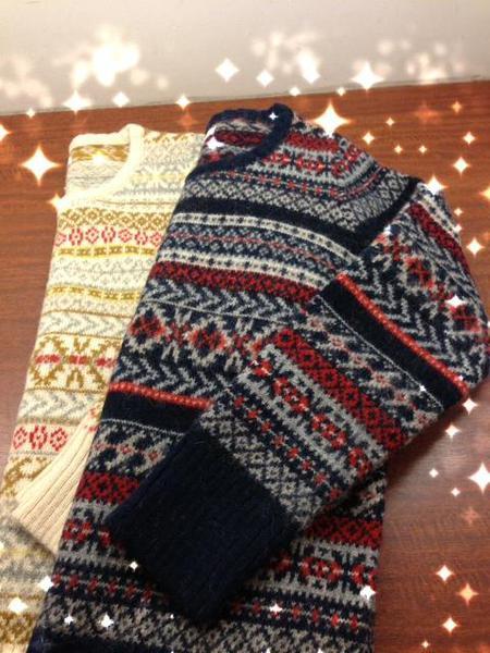♪♪ニットセーターで衣替え♪♪