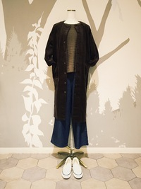 corduroy coat one-piece