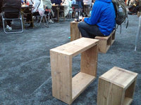 WOODPRO Shop & Cafeさんのラックを椅子やテーブルにどうぞ!