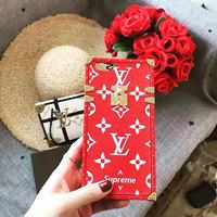 ルイヴィトン ブランド iPhone8ケース Supreme × Louis Vuitton Eye Trunk コラボ