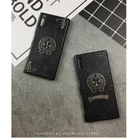 クロムハーツ 革製品 スマホケース iphone8 xperiza