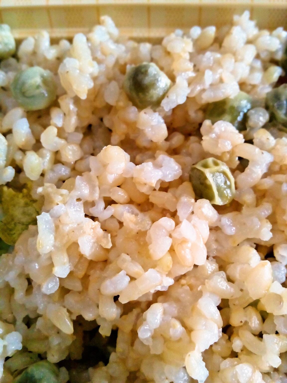 えんどう豆玄米ごはん♪