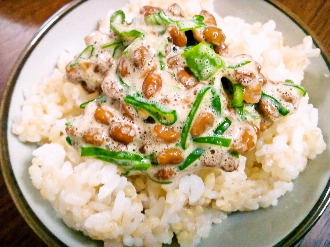 スーパー玄米とご飯と納豆♪