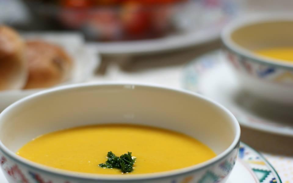 スーパー玄米入りかぼちゃのスープ♪