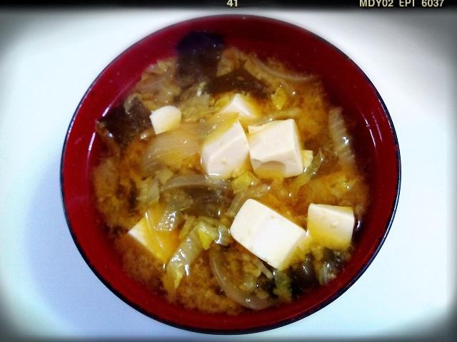 今日の玄米ご飯とお味噌汁♪