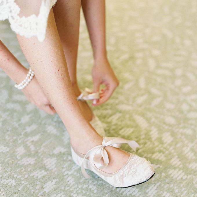 Chaussures  plates mariée confortables