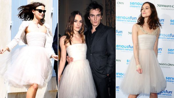 Keira Knightley robe trapèze bustier courte pour fête mariage