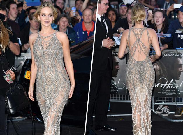Jennifer Lawrence robe sexy à Venise