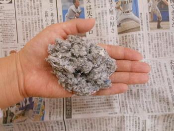 新聞紙をリサイクルした・・・