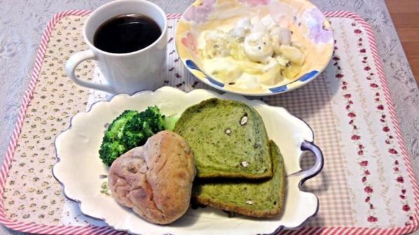 復活の抹茶小豆食パン!