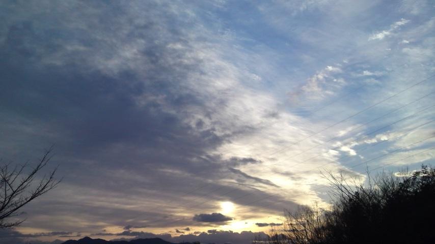 1月3日木曜日。本日の夕空in和歌山