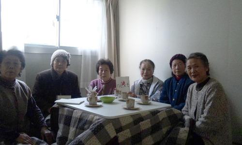 かめちゃんCafe in 陸前高田仮設住宅談話室
