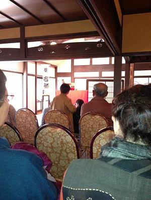 桜の庄兵衛ギャラリーで吉弥さんの落語会