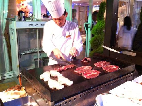 千里阪急ホテルのビアガーデン2012