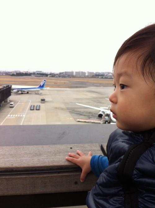 伊丹空港で飛行機ブーン