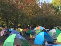 ロハスにカラフルなテントたち
