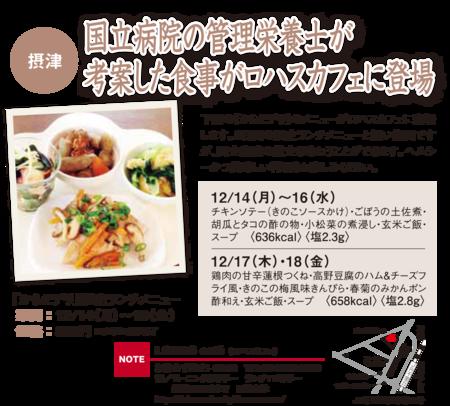 12/14(月)~18(金) 国立病院の栄養管理士が考案した食事をランチでご提供!