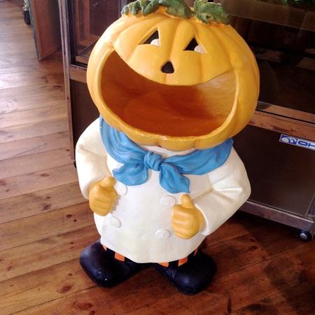 ハロウィンかぼちゃ君登場