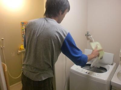 お風呂の残り湯でお洗濯