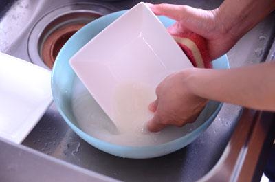 とぎ汁だけで洗えます