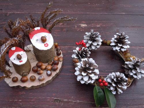 【イベント】12月15日 自然工作教室「リースと木のサンタ」