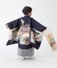 七五三5歳男の子の袴を着付けしました!